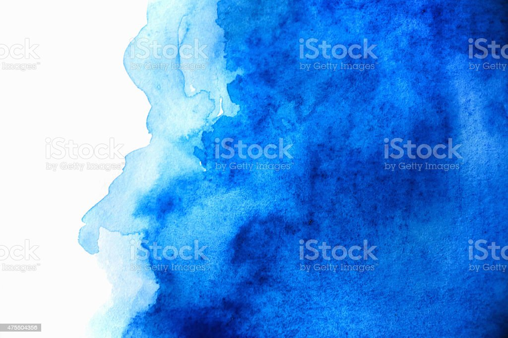 Blank Abstract light blue watercolor background isolated on white stock photo