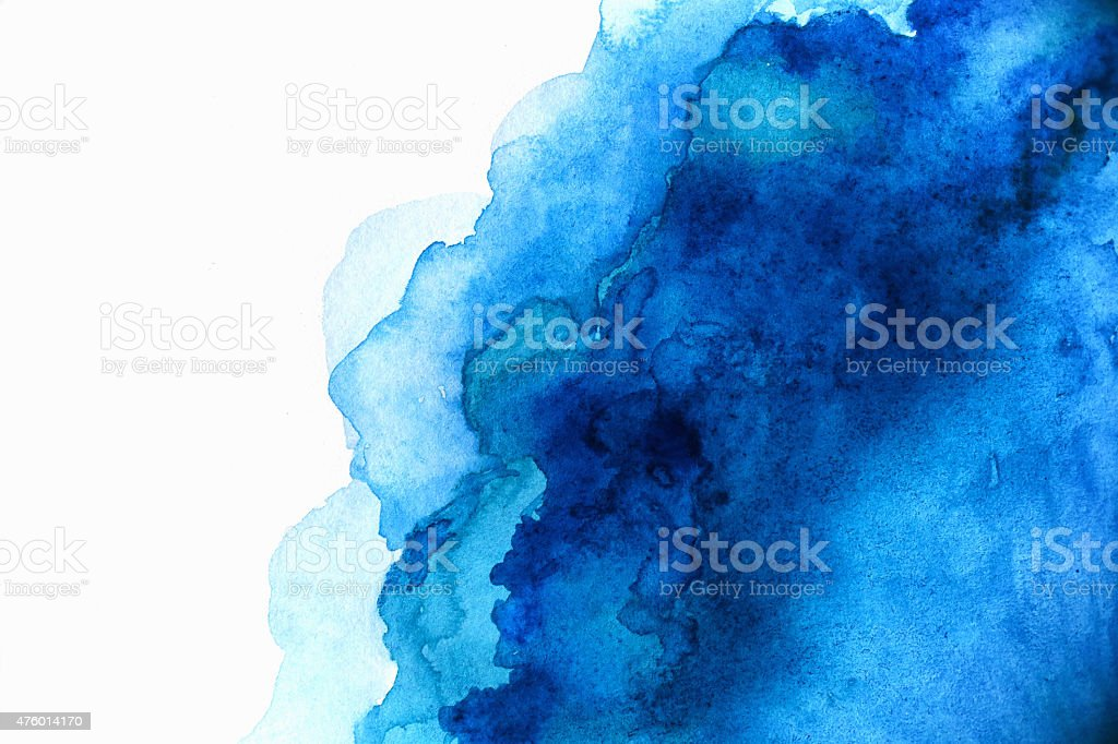 Blank Abstract light blue watercolor background isolated on white vector art illustration