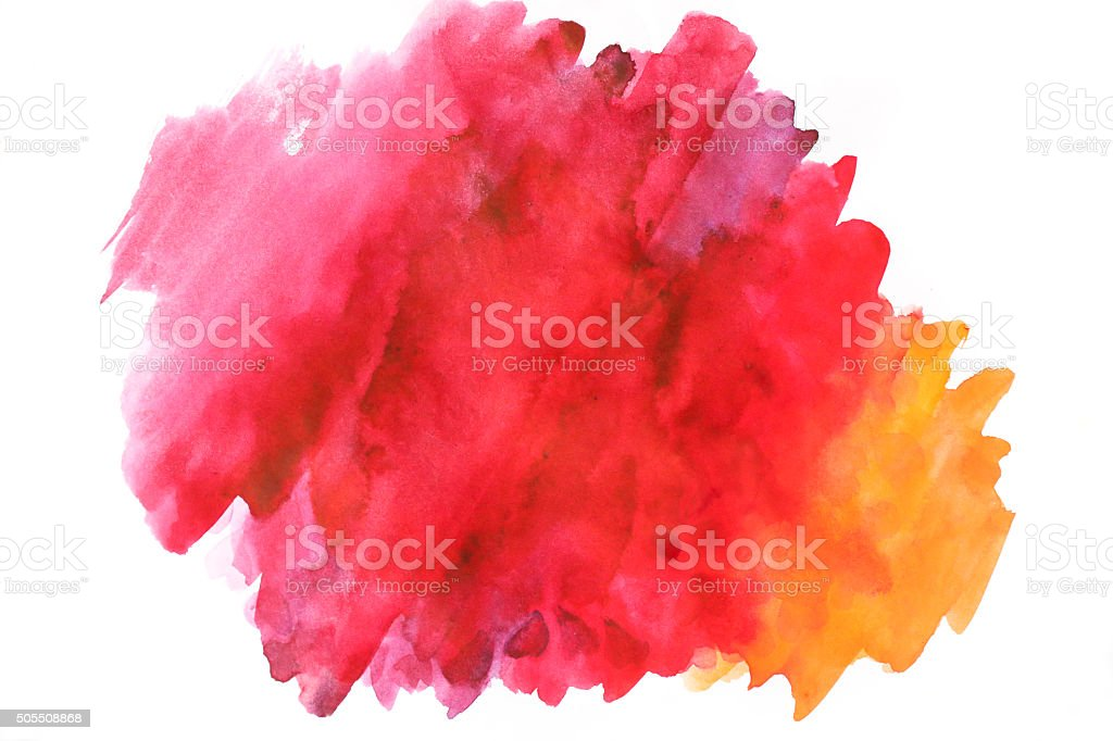 Blank Abstract light watercolor background isolated on white vector art illustration