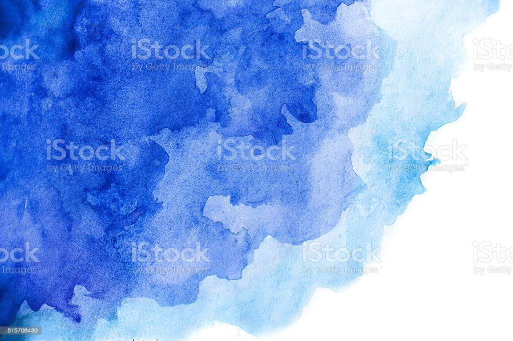 Blank Abstract light watercolor background isolated on white stock photo