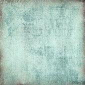 Blank acid washed blue, grunge background for text or image