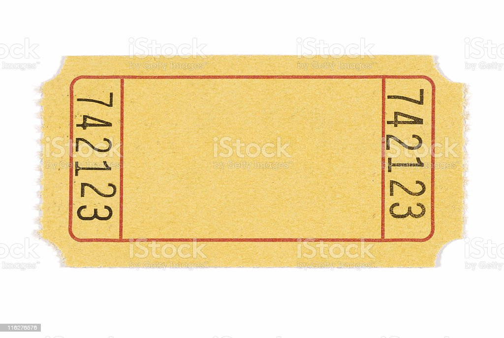 Blank admission ticket royalty-free stock photo