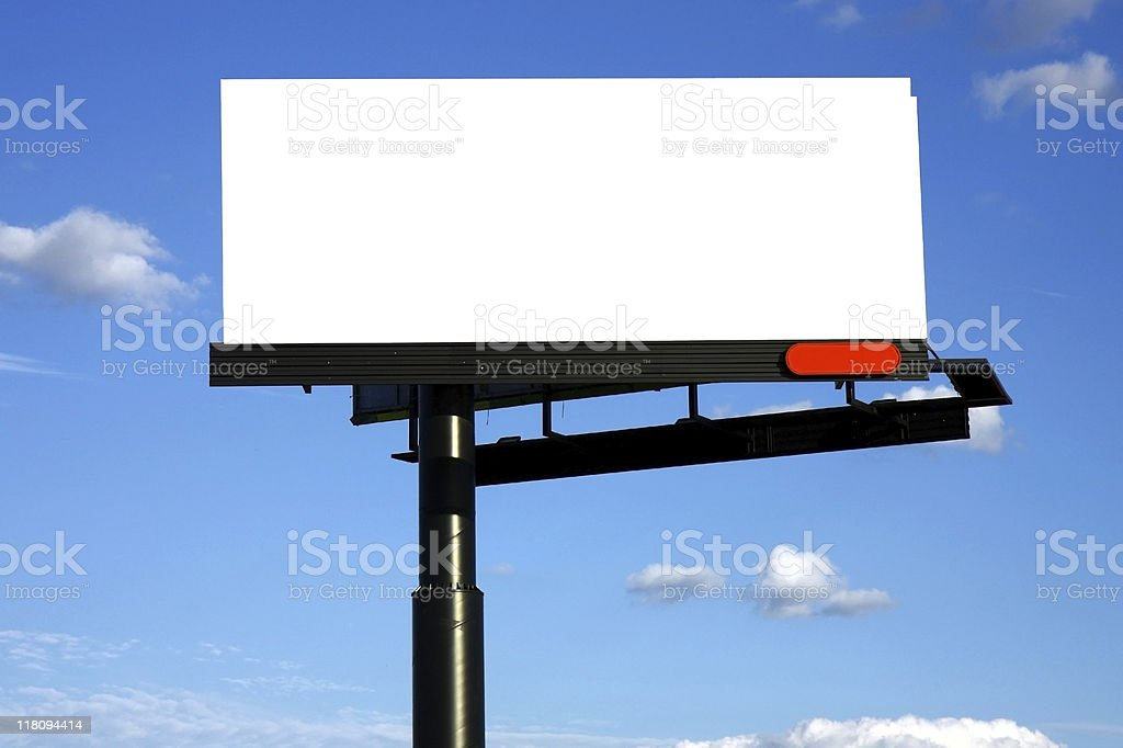 blank advertisement billboard royalty-free stock photo