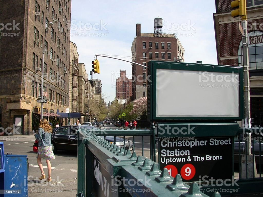 Blank Advertisement in NYC royalty-free stock photo