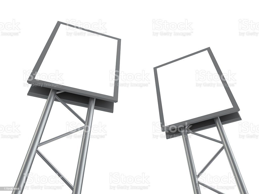 Blank advertising billboard perspective royalty-free stock photo