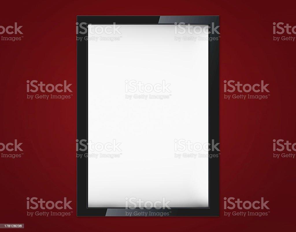 Blank advertising billboard royalty-free stock photo