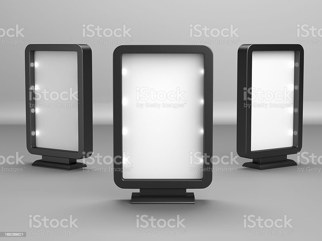 Blank Advertising Billboard royalty-free stock photo