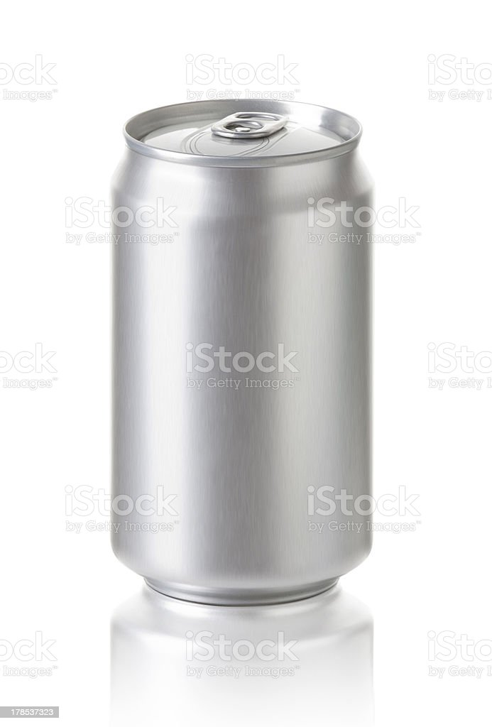 Blank  Aluminum can, isolated on white background. royalty-free stock photo