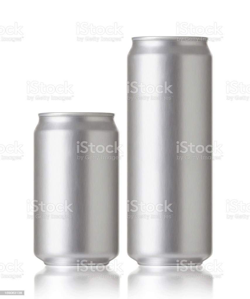 Blank aluminum cans, Realistic photo image stock photo