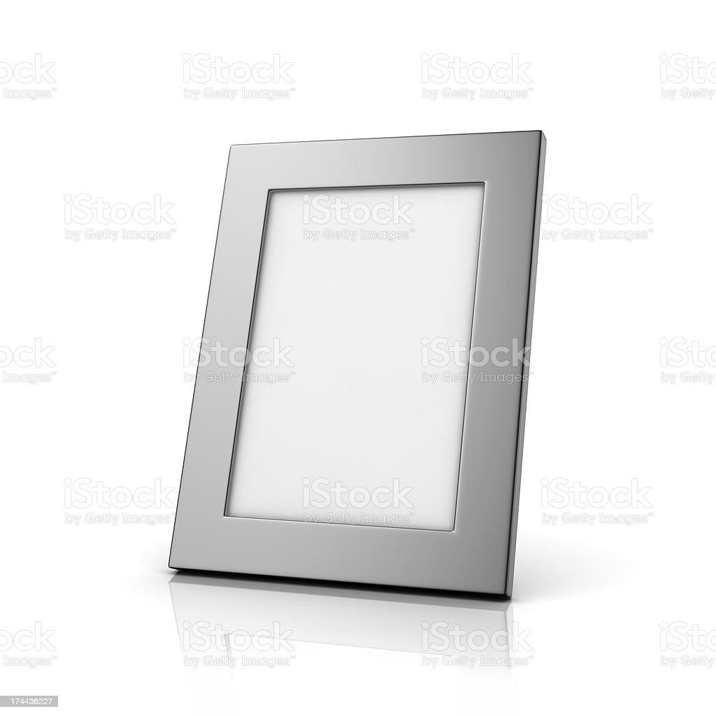 Blank aluminum photo frame stock photo