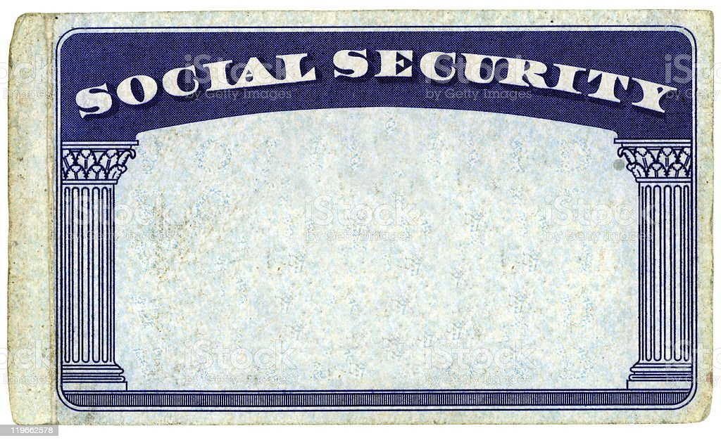 Blank American Social Security Card royalty-free stock photo