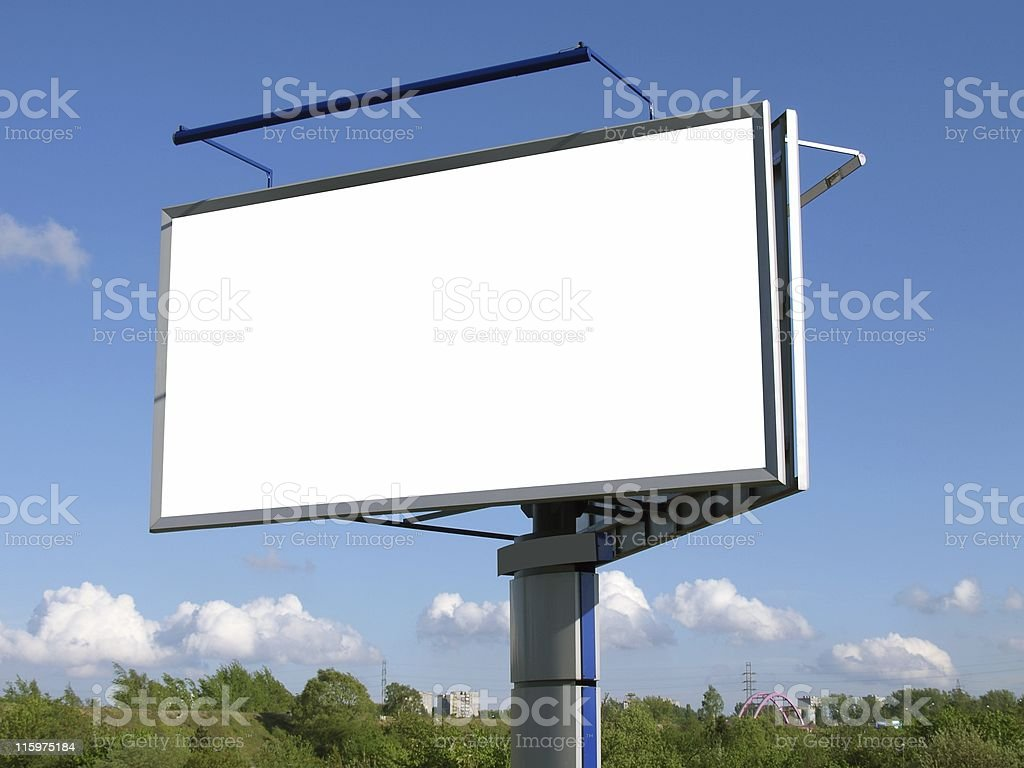 Blank and high advertising board royalty-free stock photo
