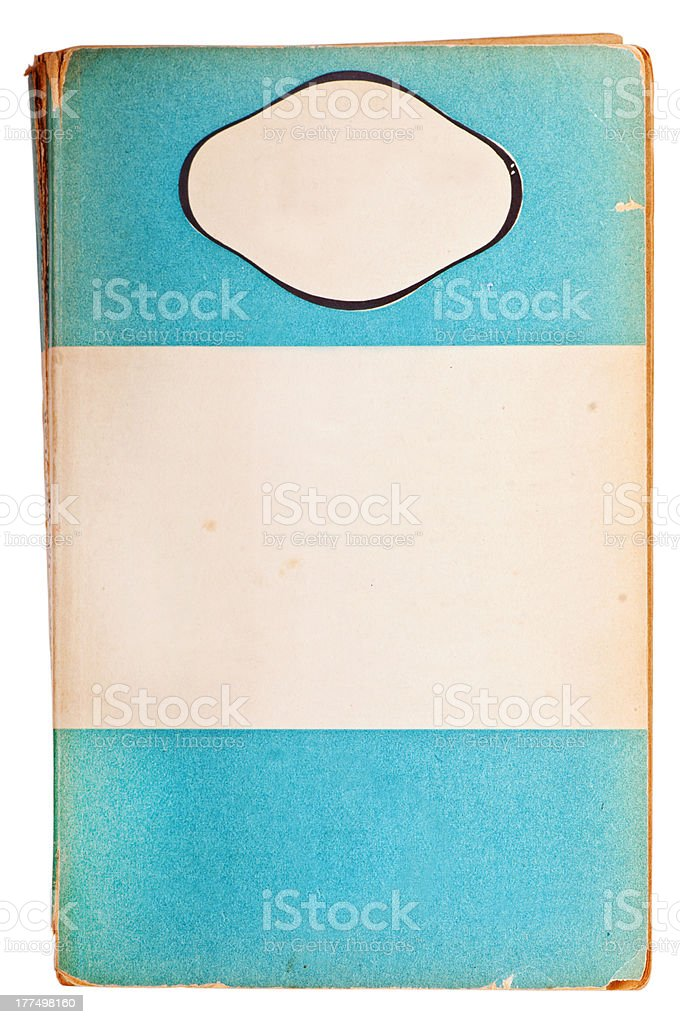 Blank antique paperback book stock photo