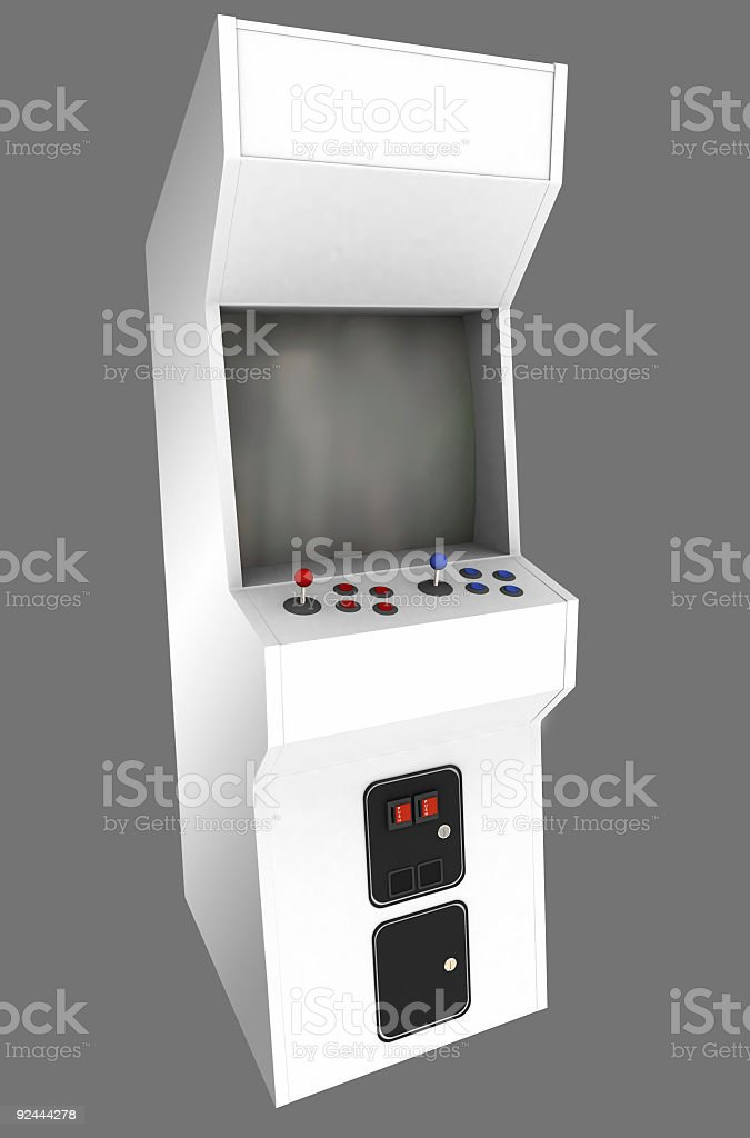 Blank Arcade Machine Cabinet (Isolated) royalty-free stock photo