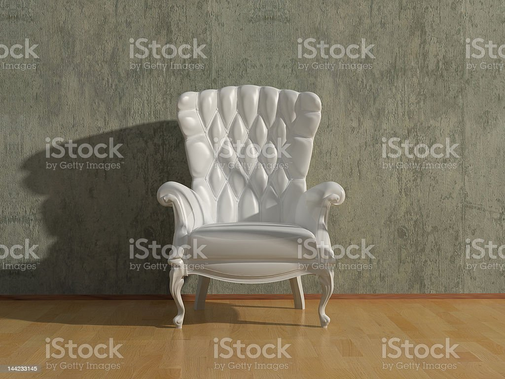 blank armchair royalty-free stock photo
