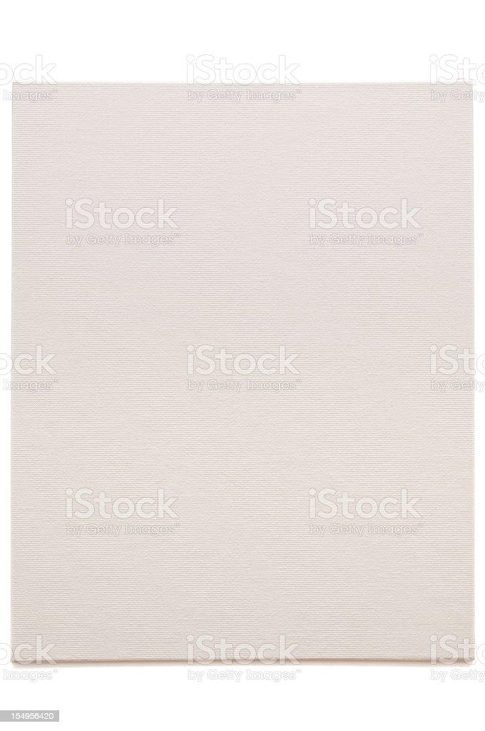 Blank artist linen canvas royalty-free stock photo