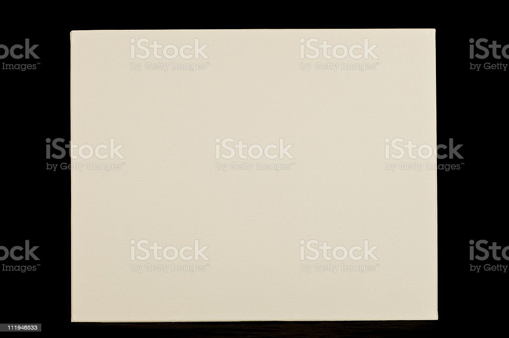 Blank Artists' Canvas on Black royalty-free stock photo