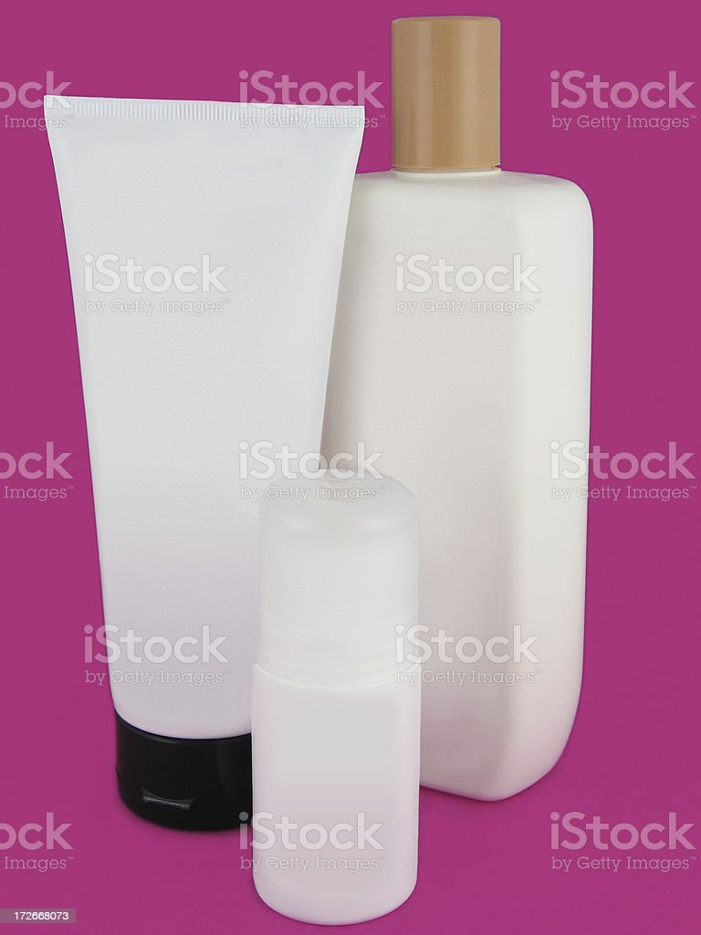 Blank Assorted Bottles royalty-free stock photo