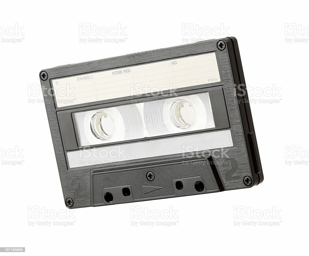 blank Audio cassette close up isolated royalty-free stock photo