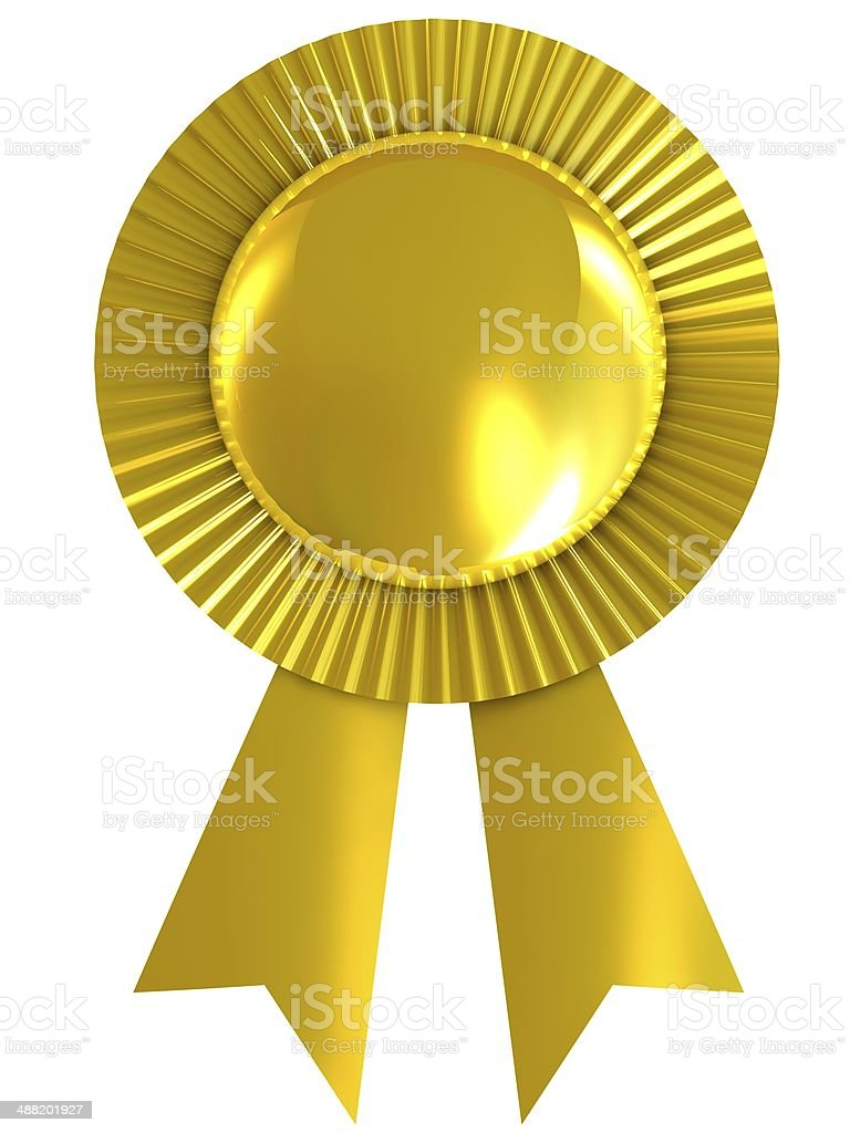 Blank award ribbon rosette. royalty-free stock photo