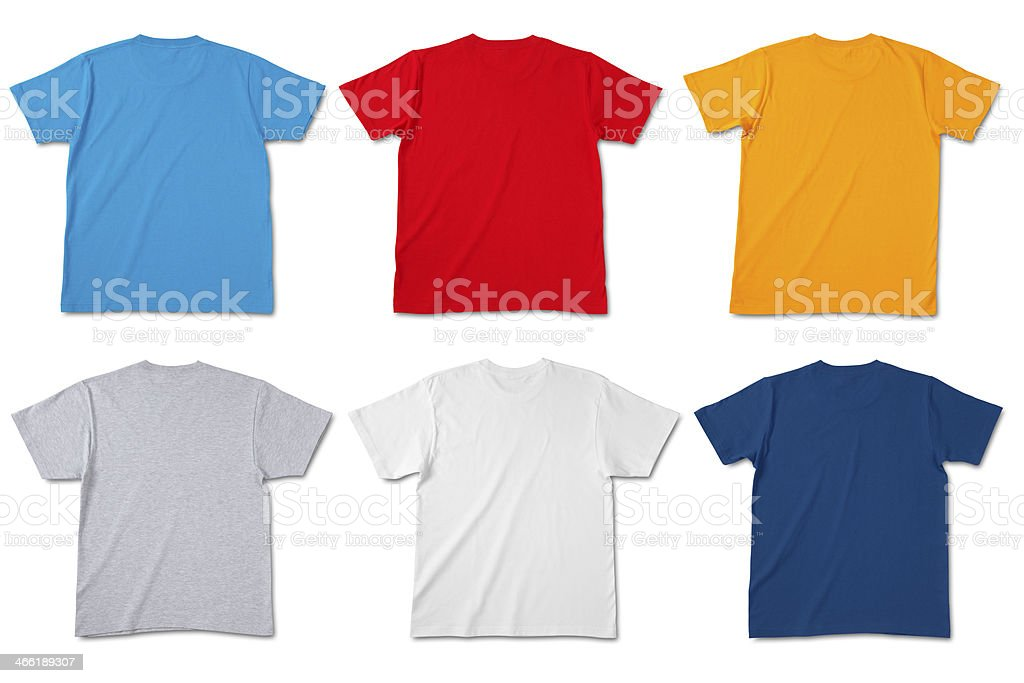 Blank Back of T-shirts/clipping path stock photo