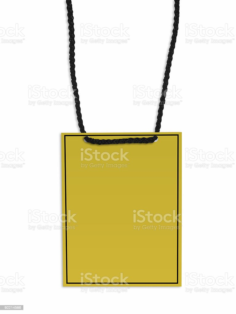 Blank backstage pass royalty-free stock photo