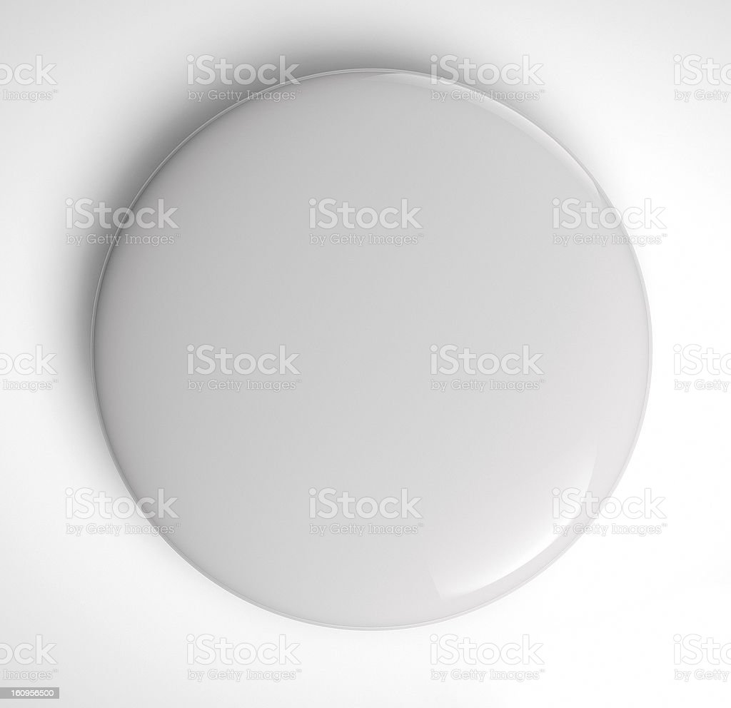 Blank Badge Button royalty-free stock photo
