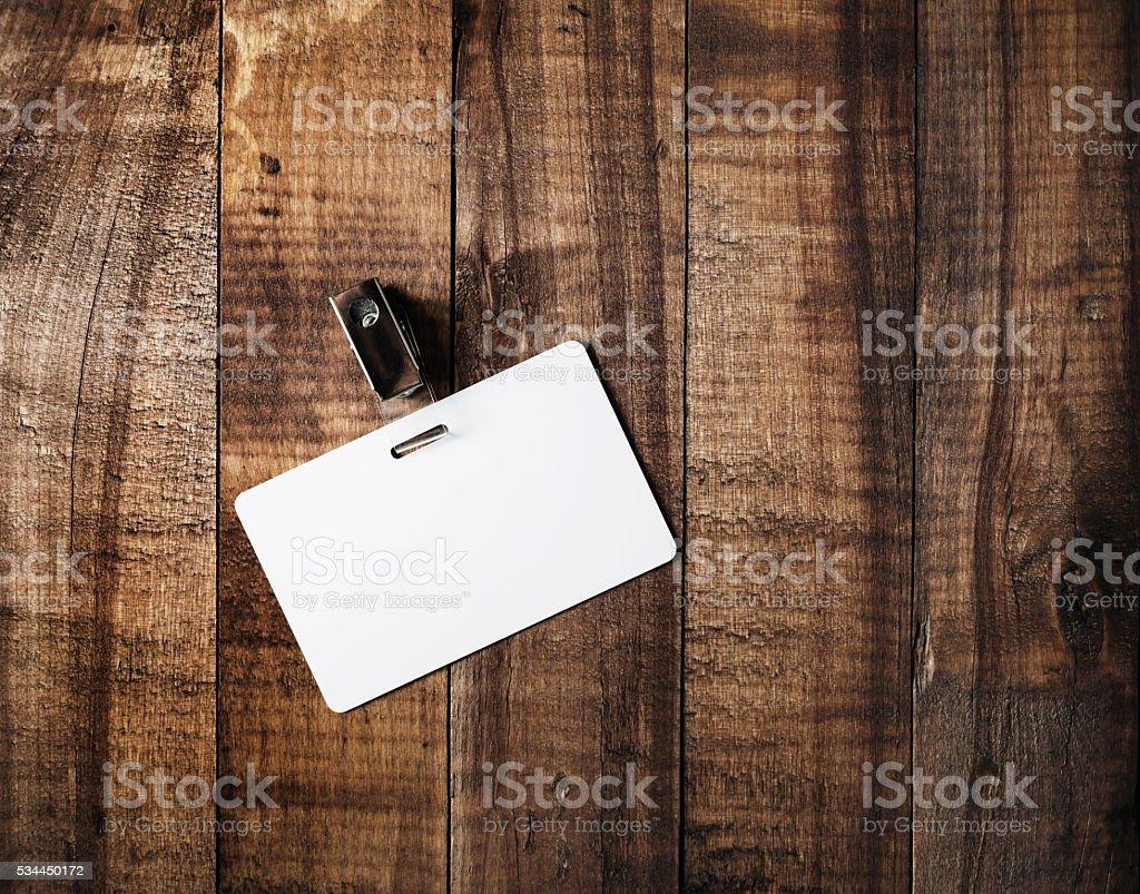 Blank badge mock-up stock photo