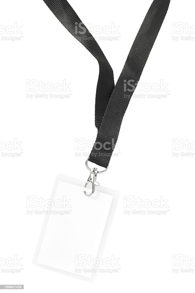 Blank badge or ID pass royalty-free stock photo