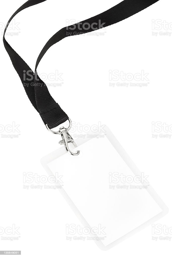 Blank badge royalty-free stock photo
