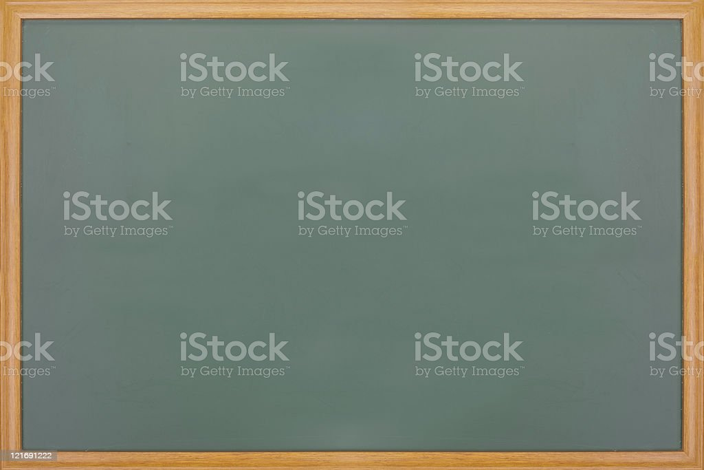 Blank balckboard with wooden frame royalty-free stock photo