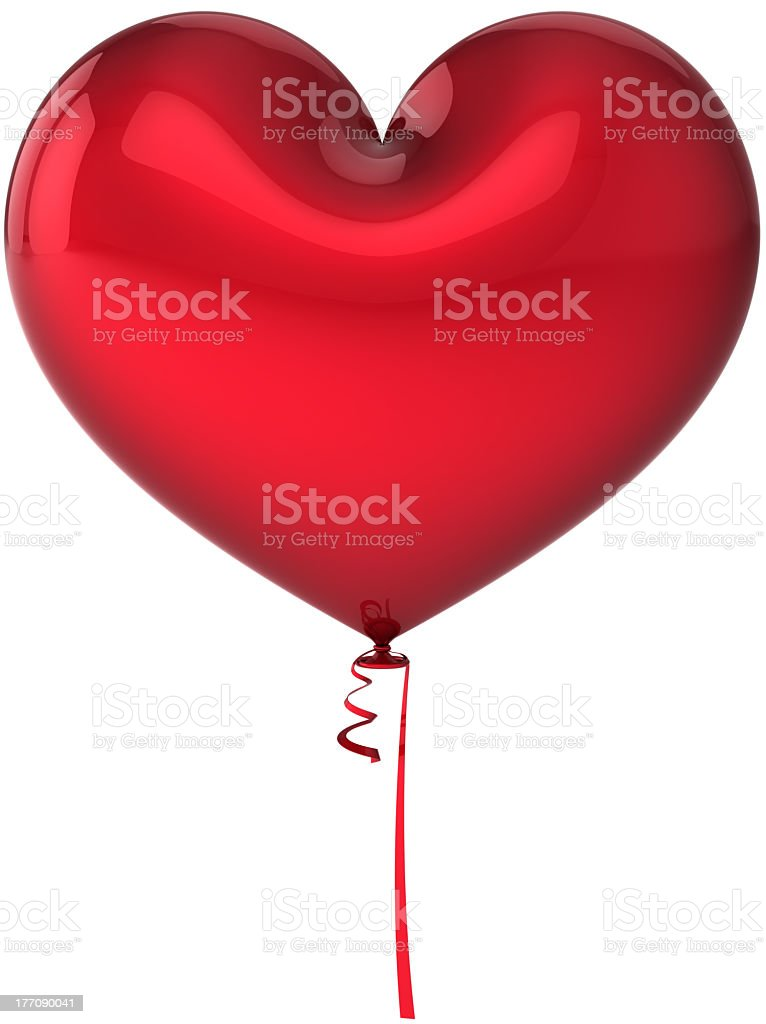 Blank balloon heart shaped party birthday decoration colored red royalty-free stock photo