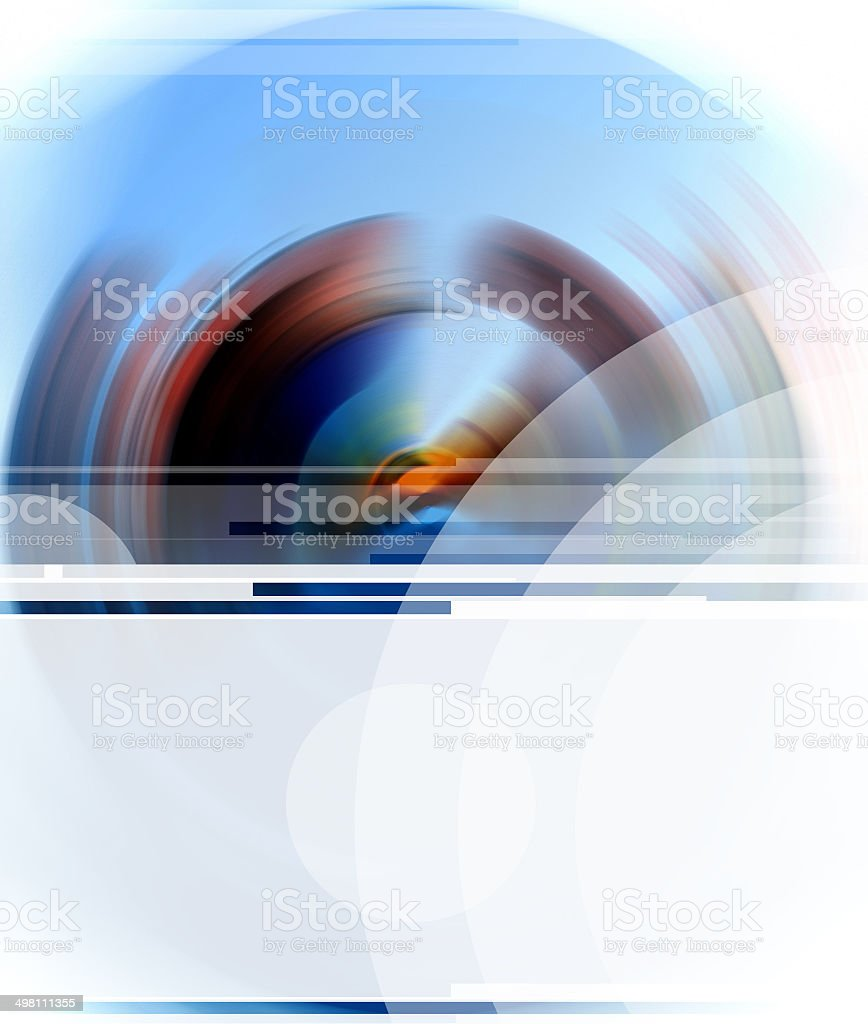 Blank banner on spectral colors royalty-free stock photo