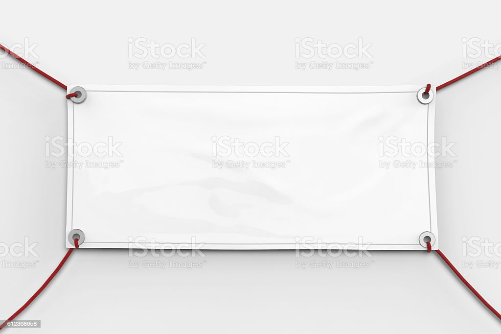 blank banner stock photo