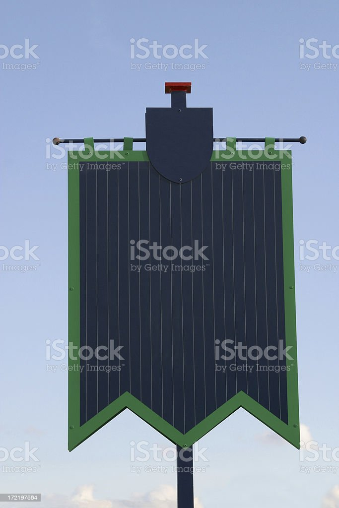 Blank Banner Sign royalty-free stock photo