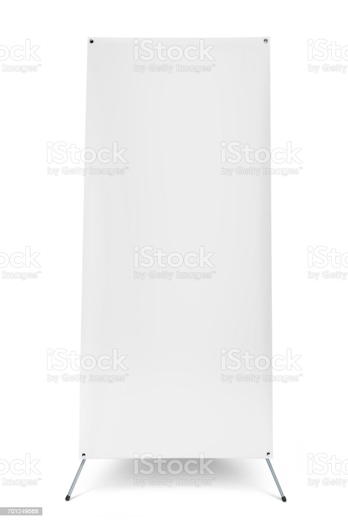 Blank banner stand display template for design work stock photo