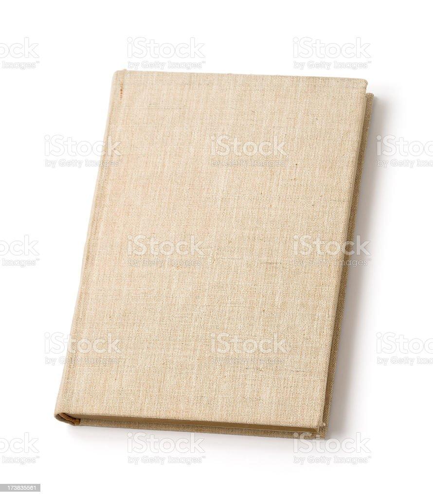 Blank beige hardback book royalty-free stock photo