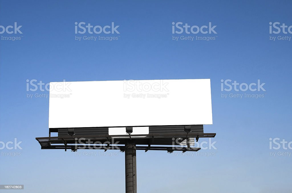 Blank bilboard with clipping path stock photo