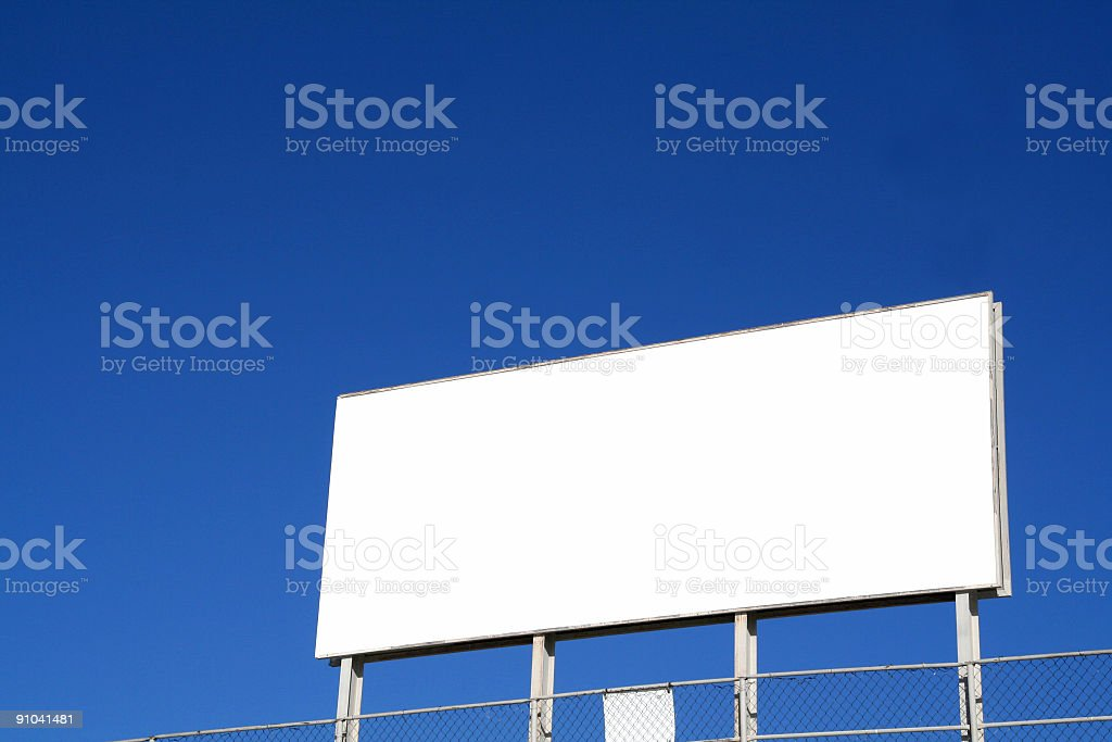 Blank Billboard 2 royalty-free stock photo