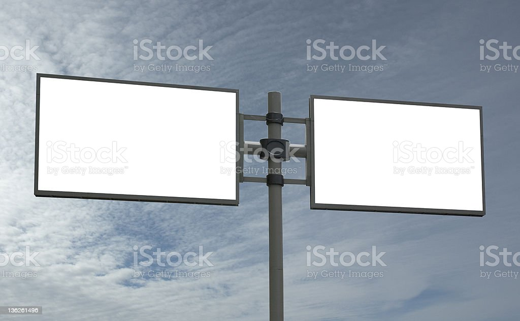 blank billboard, add your message royalty-free stock photo
