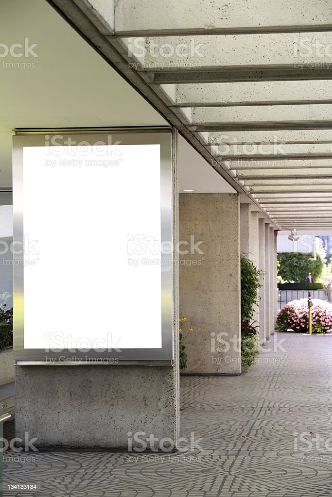 Blank billboard - clipping path included royalty-free stock photo