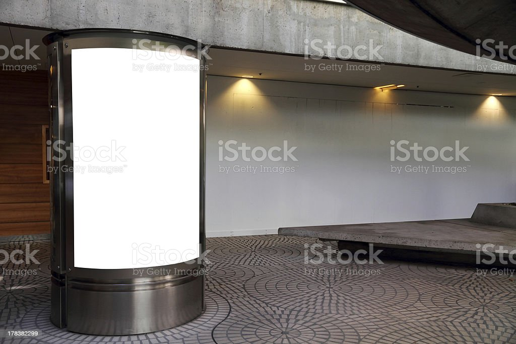 Blank billboard – clipping path included royalty-free stock photo