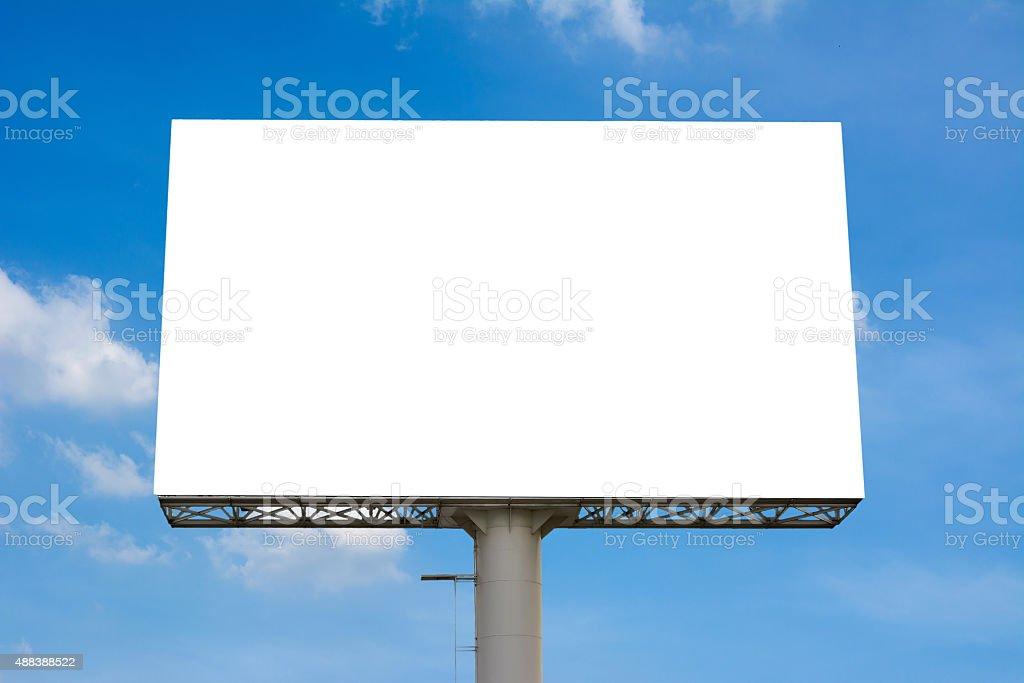 Blank billboard for new advertisement stock photo