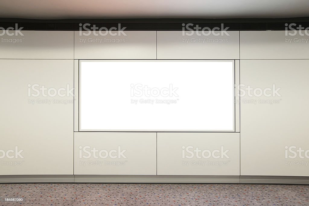 Blank Billboard in airport royalty-free stock photo
