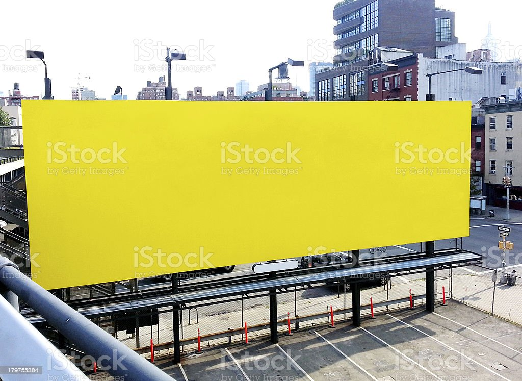 Blank Billboard in New York royalty-free stock photo
