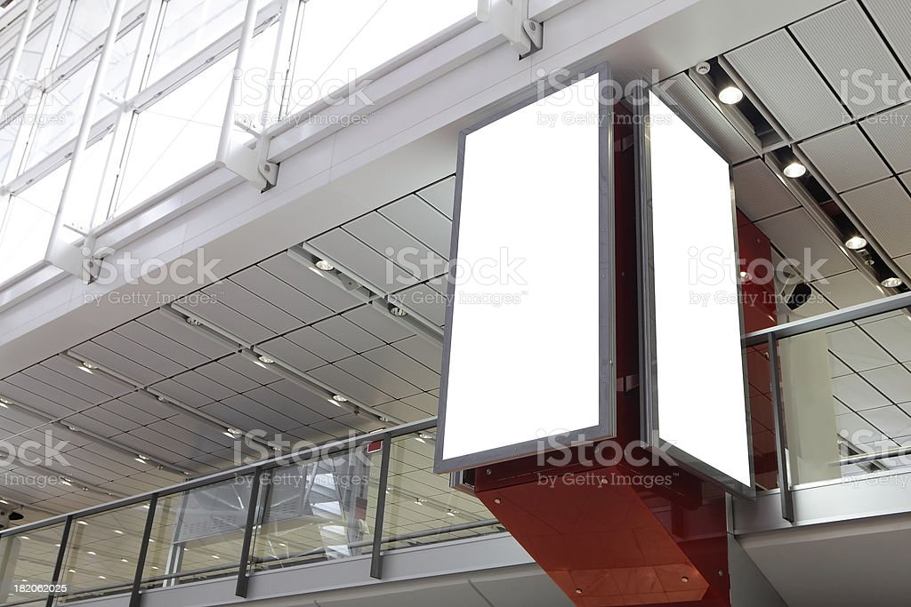 Blank billboard in the city building royalty-free stock photo