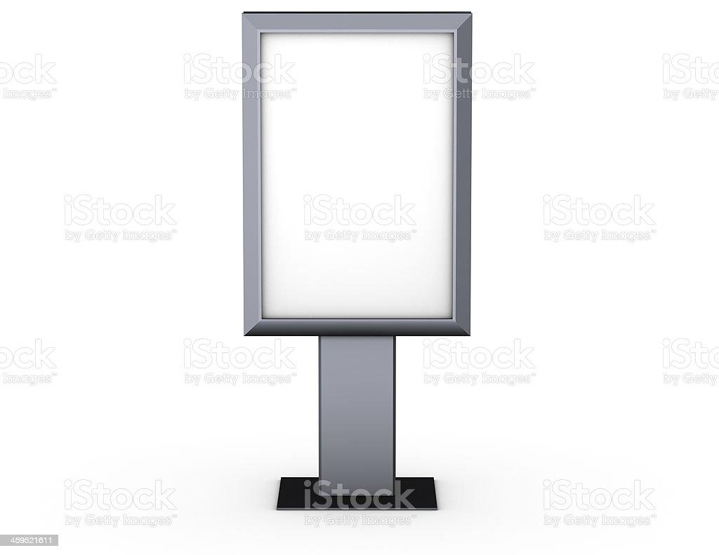 blank billboard isolated on white background royalty-free stock photo