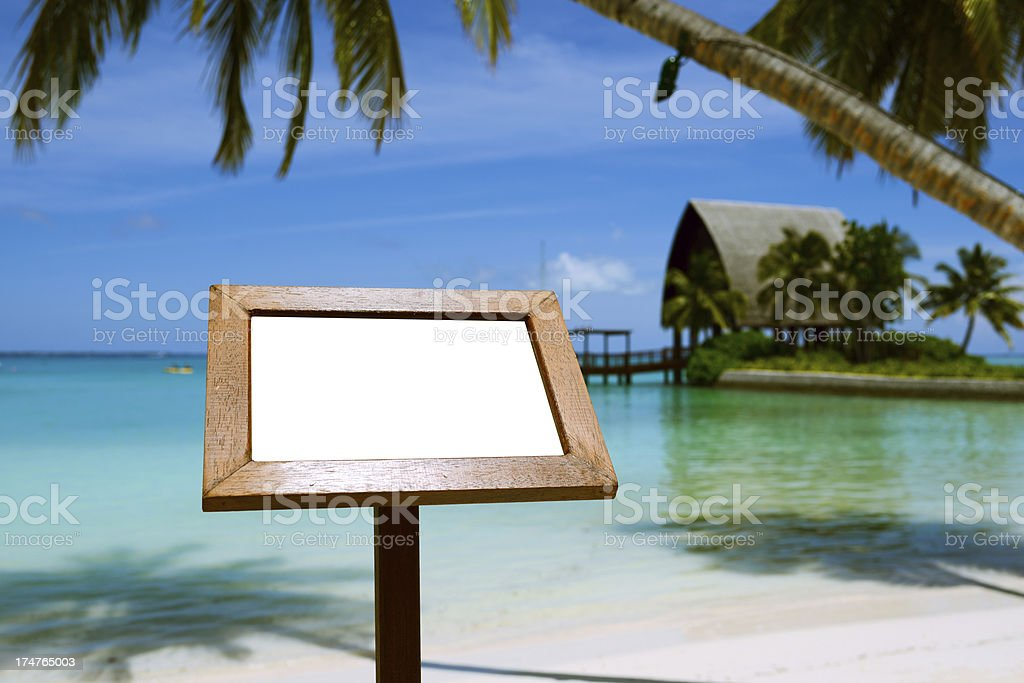 Blank Billboard On Beach royalty-free stock photo
