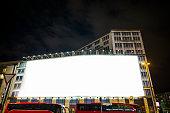 Blank billboard on building