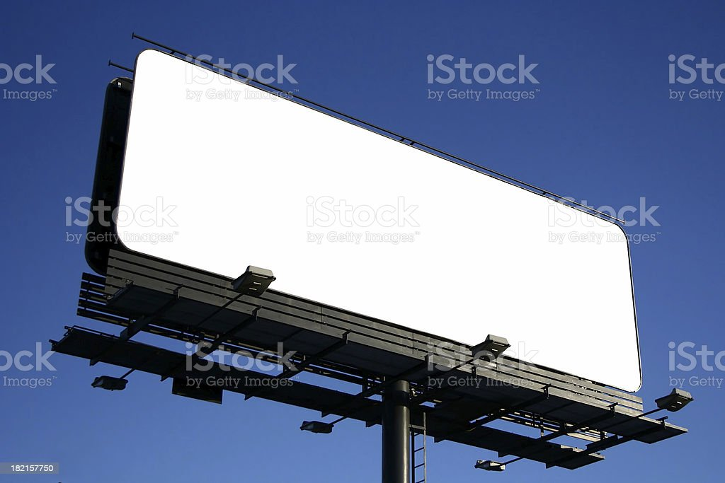 'Blank billboard on cloudy sky, just add your text' stock photo